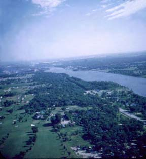 arial photo of Rock River